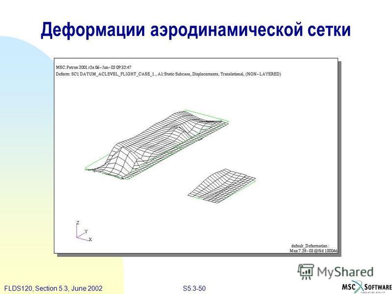 S5.3-50FLDS120, Section 5.3, June 2002 Деформации аэродинамической сетки