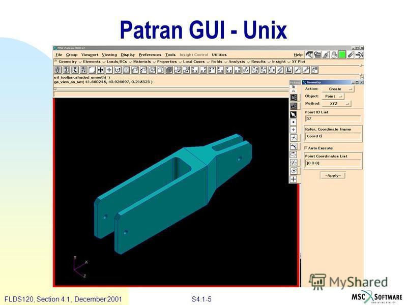 S4.1-5 FLDS120, Section 4.1, December 2001 Patran GUI - Unix
