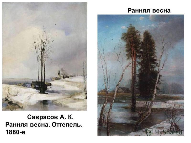 Саврасов А. К. Ранняя весна. Оттепель. 1880-е Ранняя весна