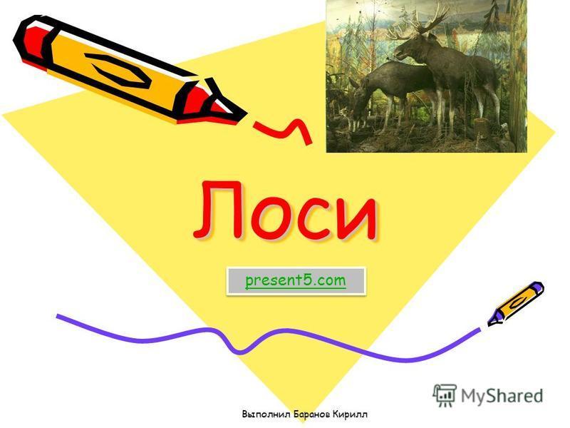 Лоси Лоси Выполнил Баранов Кирилл present5.com