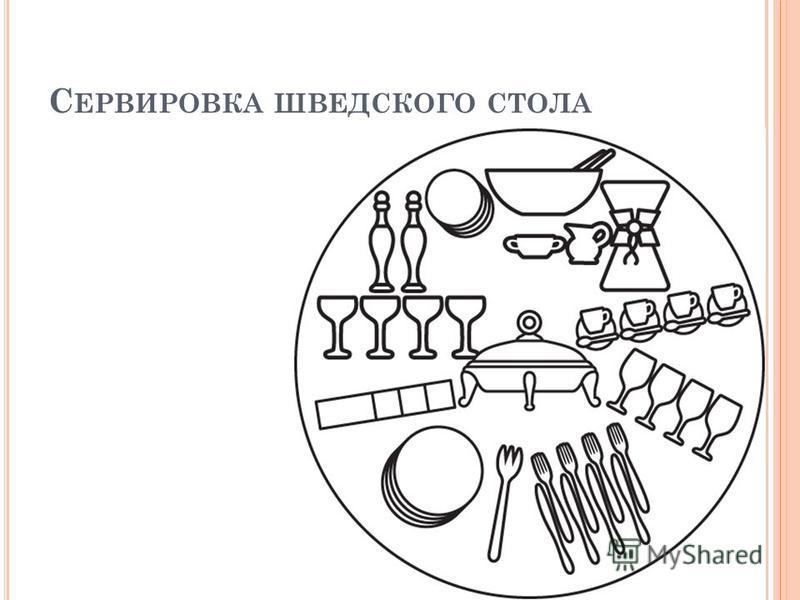 С ЕРВИРОВКА ШВЕДСКОГО СТОЛА