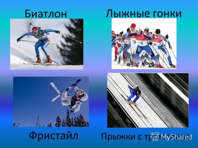 Биатлон Бобслей: бобслей, скелетон Бобслейбобслейскелетон Конькобежный спорт: конькобежный спорт, фигурное катание, шорт-трек Конькобежный спорт конькобежный спорт фигурное катание шорт-трек Кёрлинг Лыжный спорт: горнолыжный спорт, лыжное двоеборье,
