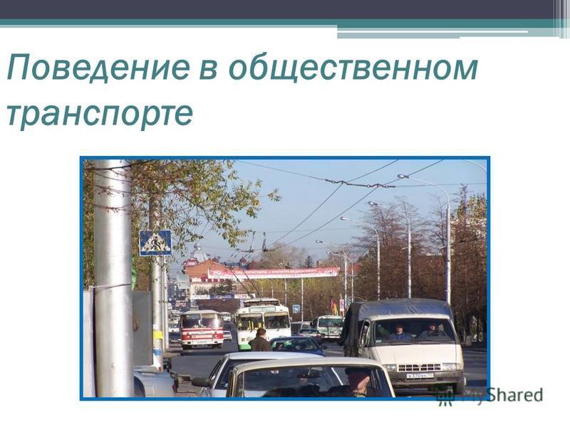 Поведение в общественном транспорте
