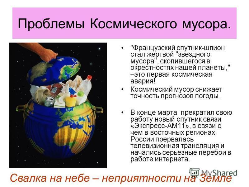 Проблемы Космического мусора.