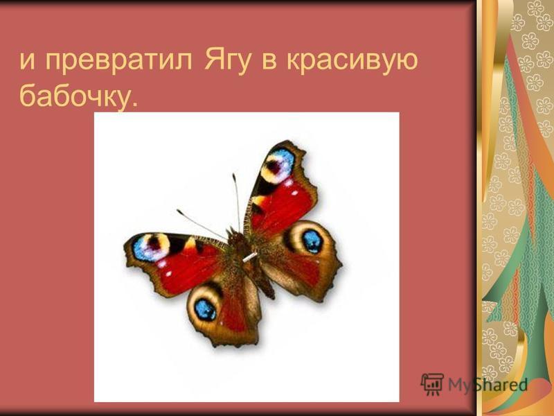и превратил Ягу в красивую бабочку.