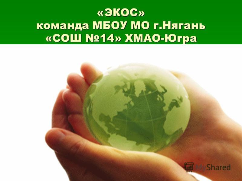 «ЭКОС» команда МБОУ МО г.Нягань «СОШ 14» ХМАО-Югра