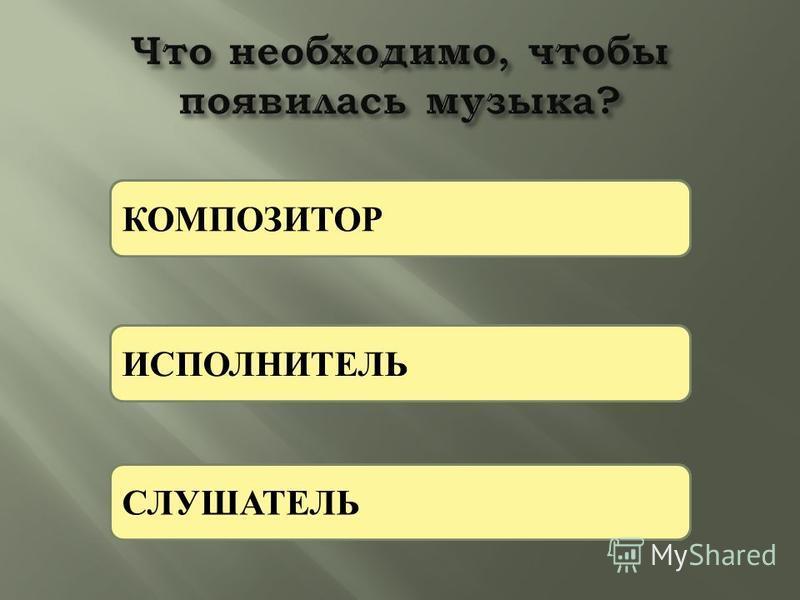 К И С КОМПОЗИТОР ИСПОЛНИТЕЛЬ СЛУШАТЕЛЬ