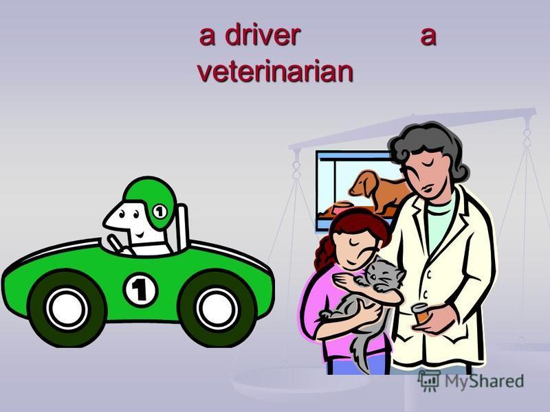 a driver a veterinarian a driver a veterinarian