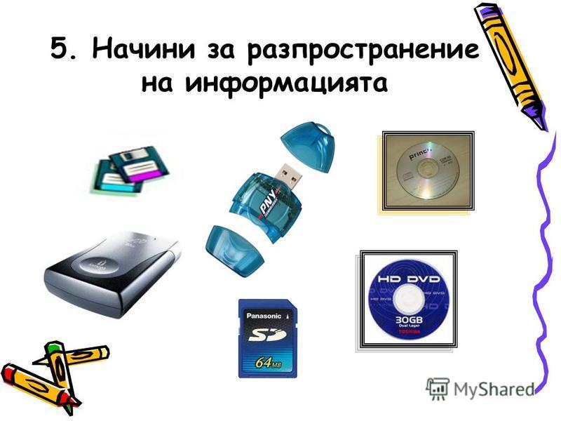 5. Начини за разпространение на информацията