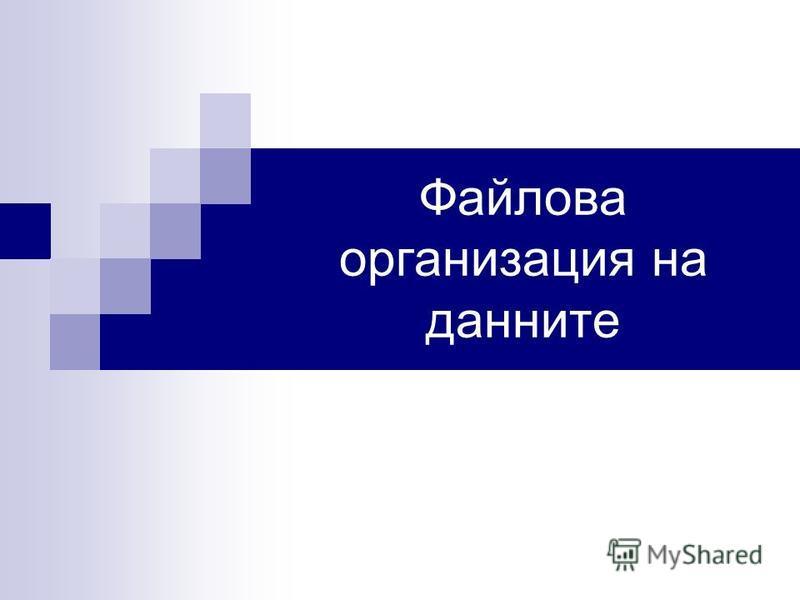 Файлова организация на данните