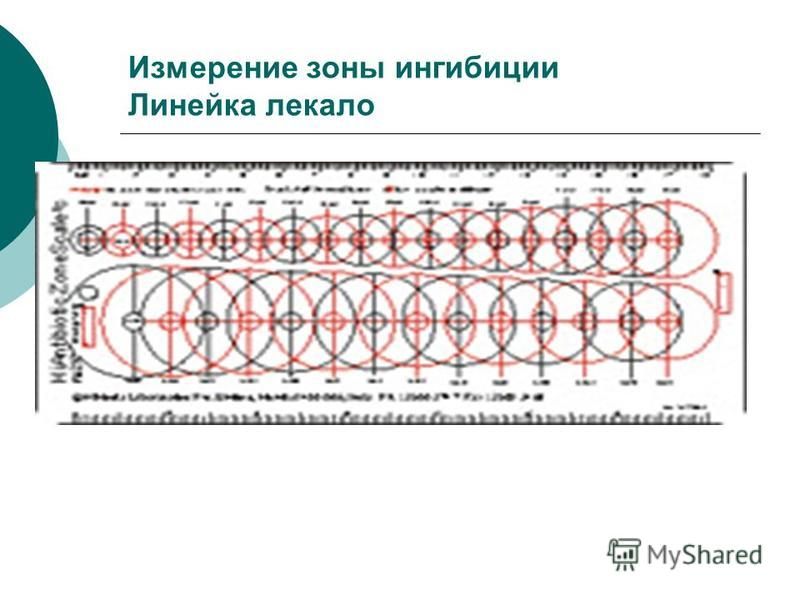 Измерение зоны ингибиции Линейка лекало