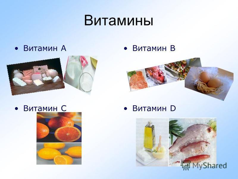 Витамины Витамин АВитамин В Витамин СВитамин D