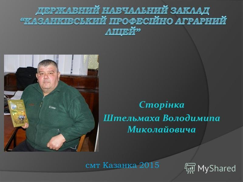 Сторінка Штельмаха Володимипа Миколайовича смт Казанка 2015