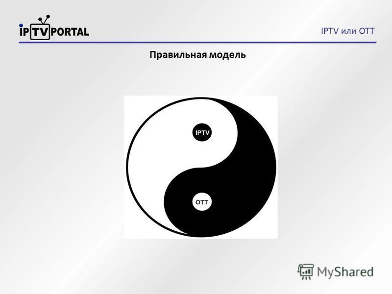 IPTV или OTT Правильная модель