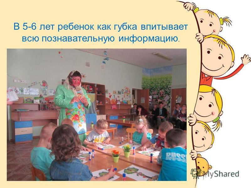 В 5-6 лет ребенок как губка впитывает всю познавательную информацию.