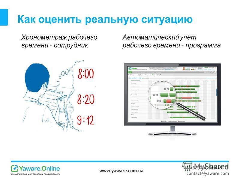 Как оценить реальную ситуацию Хронометраж рабочего времени - сотрудник Автоматический учёт рабочего времени - программа