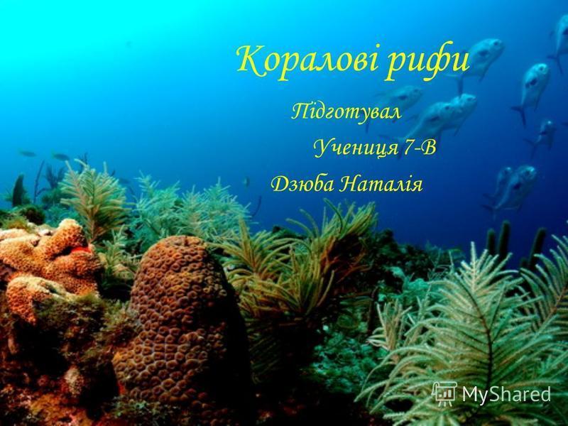 Коралові рифи Підготувал Учениця 7-В Дзюба Наталія