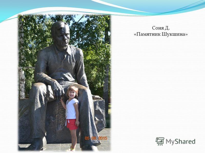 Соня Д. «Памятник Шукшина»