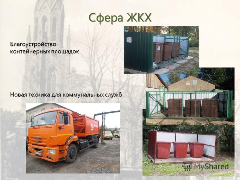 Сфера ЖКХ Благоустройство контейнерных площадок Новая техника для коммунальных служб