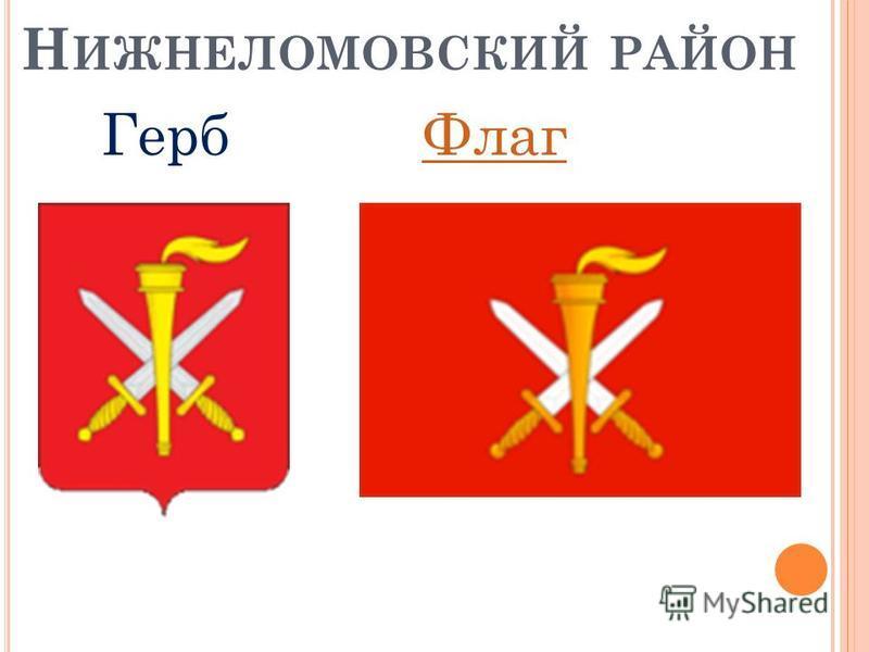 Н ИЖНЕЛОМОВСКИЙ РАЙОН Герб Флаг