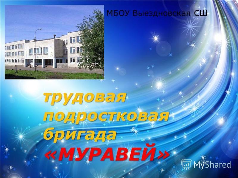 трудовая подростковая бригада «МУРАВЕЙ» МБОУ Выездновская СШ