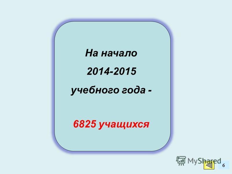 На начало 2014-2015 учебного года - 6825 учащихся 6