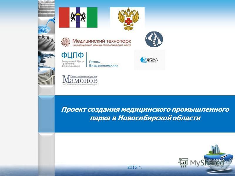 Проект создания медицинского промышленного парка в Новосибирской области 2015 г.