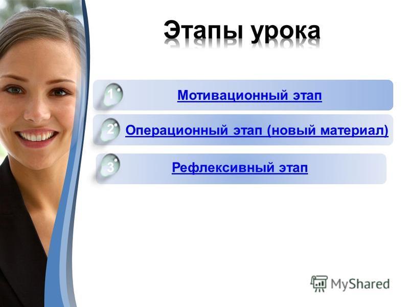 Компьютерная графика Microsoft Word История развития информатики 1 3 2 Операционный этап (новый материал) Мотивационный этап 1 3 Microsoft Power Point 6 2 6 Рефлексивный этап