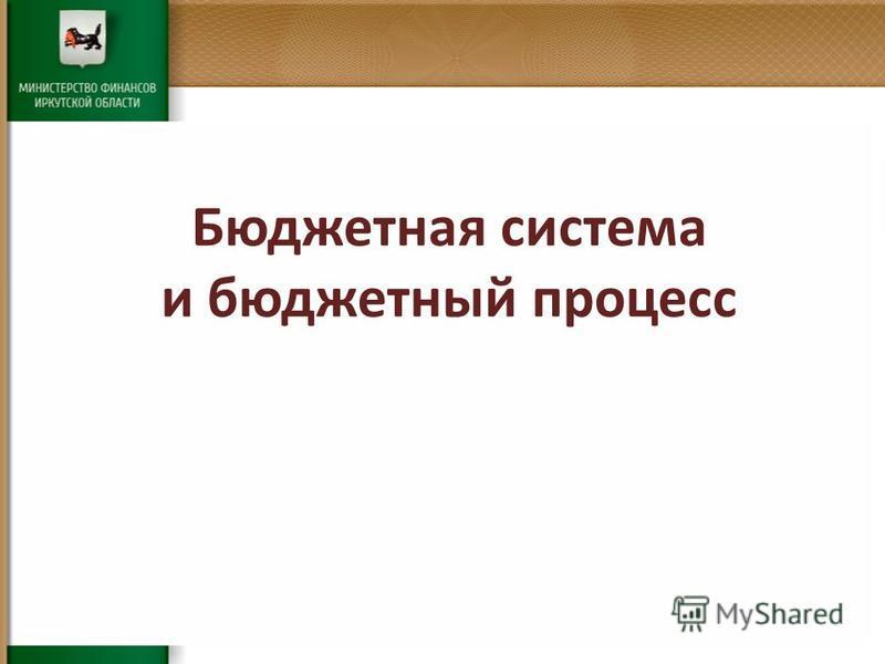 Бюджетная система и бюджетный процесс