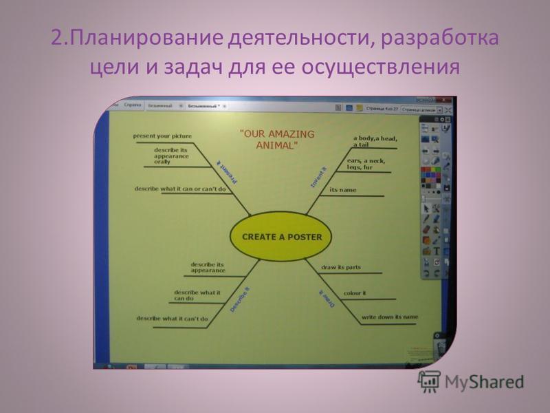 2. Планирование деятельности, разработка цели и задач для ее осуществления