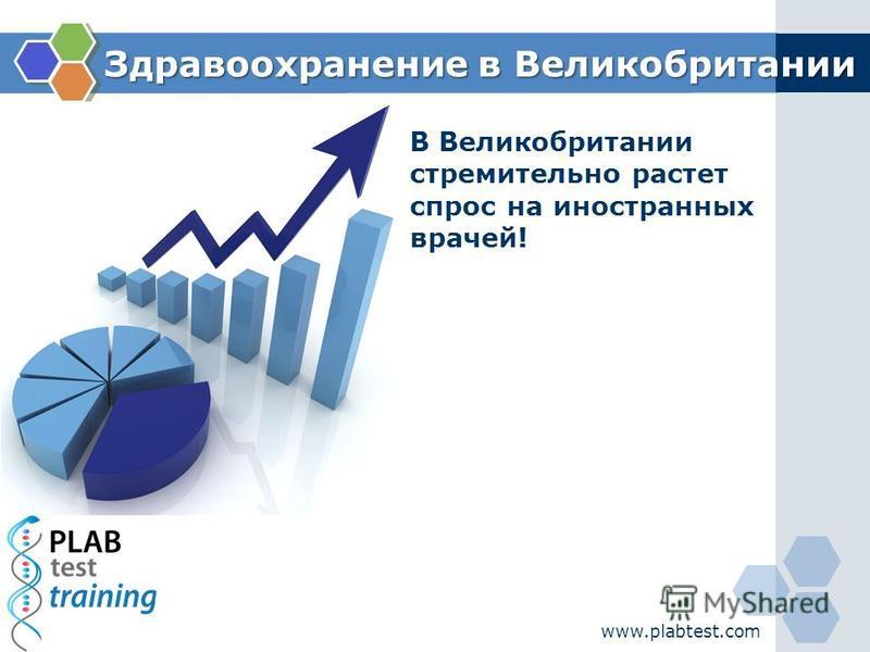 www.plabtest.com Здравоохранение в Великобритании Здравоохранение в Великобритании В Великобритании стремительно растет спрос на иностранных врачей!