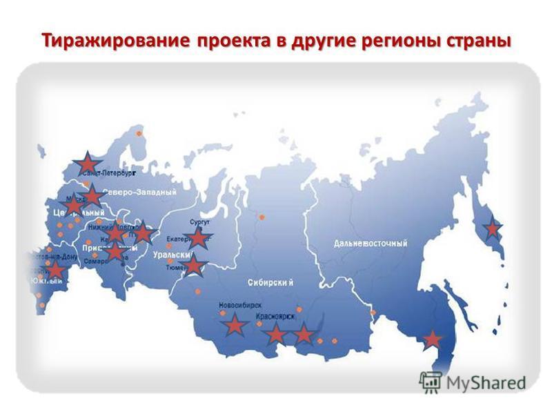 Тиражирование проекта в другие регионы страны