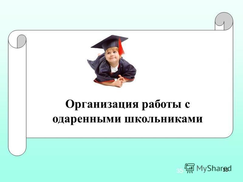 35 Организация работы с одаренными школьниками 35