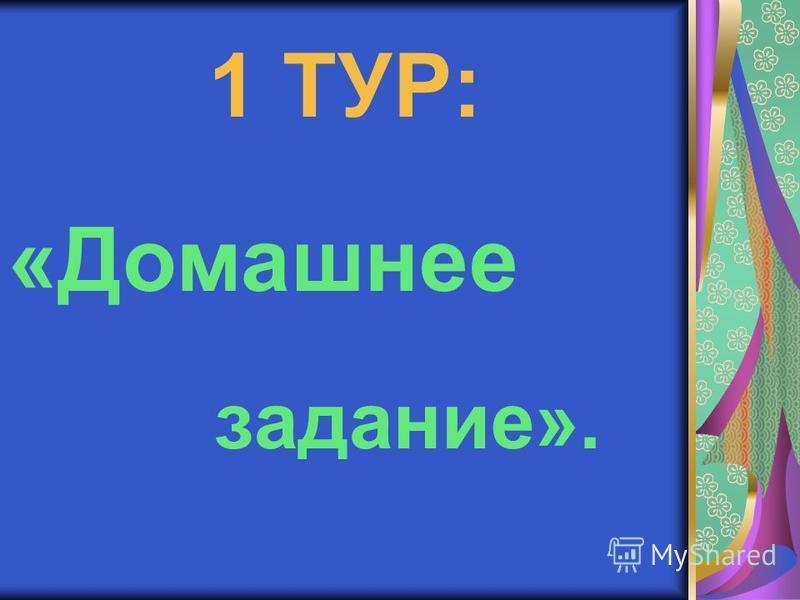 1 ТУР: «Домашнее задание».