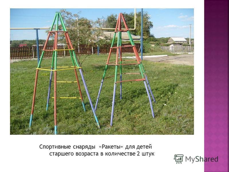 Спортивные снаряды «Ракеты» для детей старшего возраста в количестве 2 штук