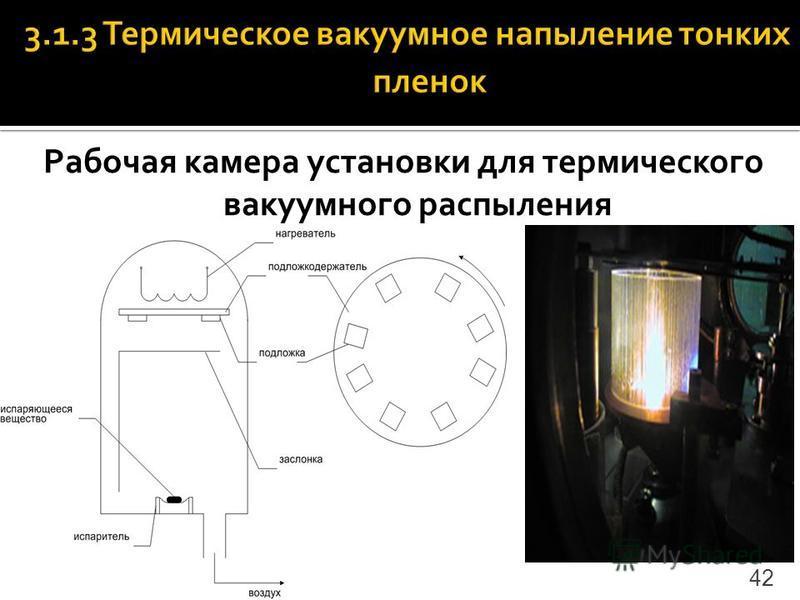 Рабочая камера установки для термического вакуумного распыления 42