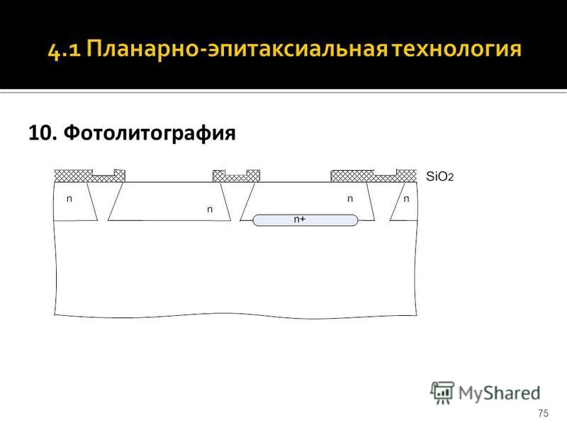 10. Фотолитография 75