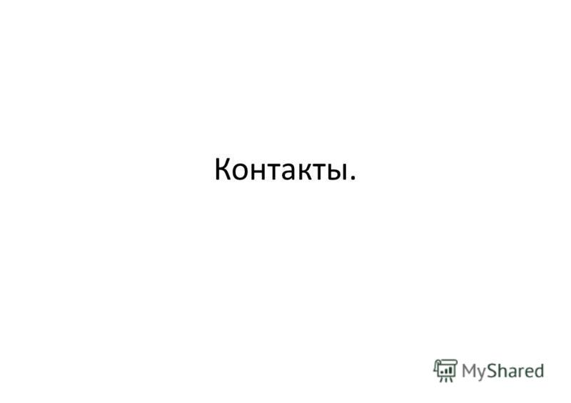 Контакты.