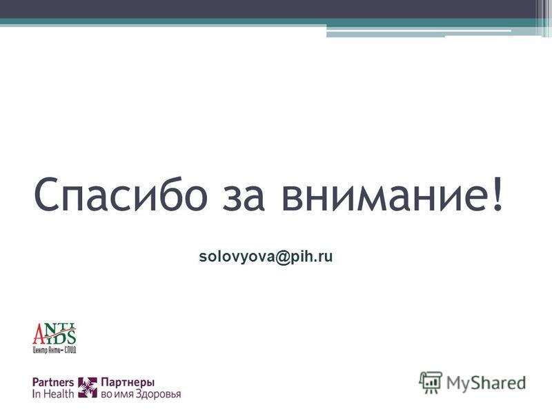 Спасибо за внимание! solovyova@pih.ru