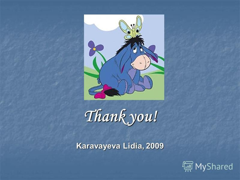 Thank you! Karavayeva Lidia, 2009