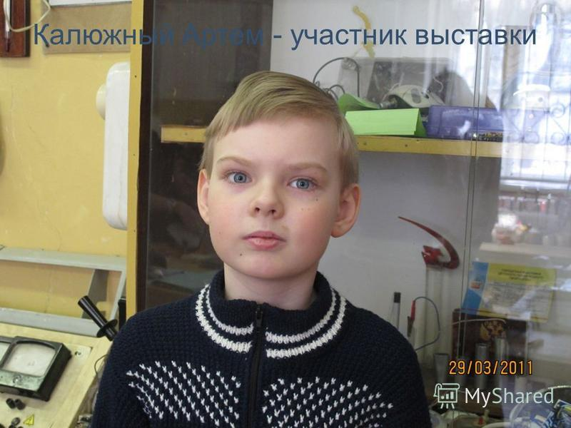 Калюжный Артем - участник выставки
