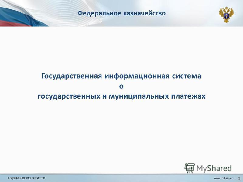 Федеральное казначейство Государственная информационная система о государственных и муниципальных платежах 1
