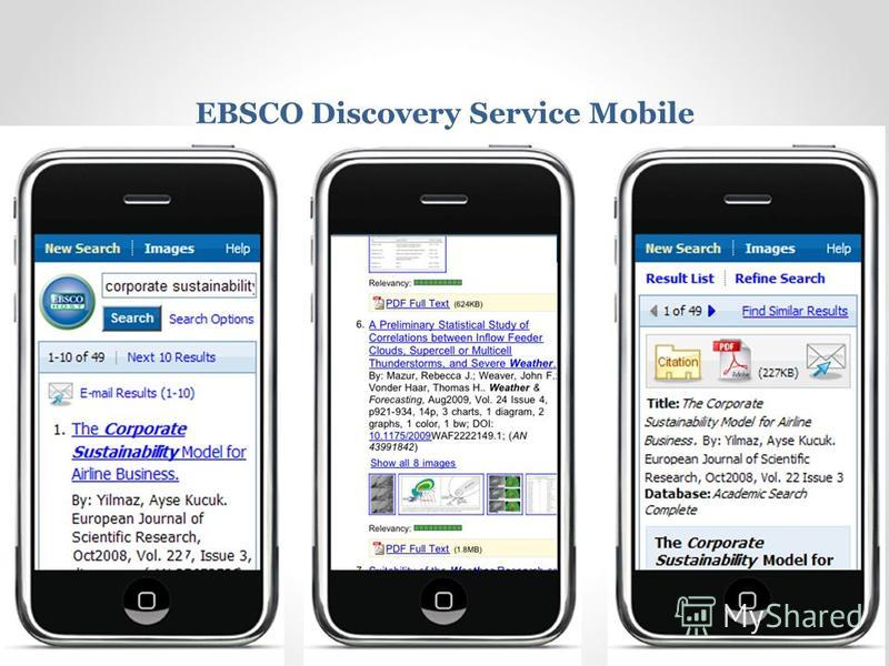 EBSCO Discovery Service Mobile