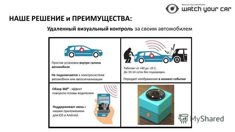 НАШЕ РЕШЕНИЕ и ПРЕИМУЩЕСТВА: Удаленный визуальный контроль за своим автомобилем