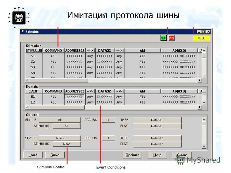 Имитация протокола шины