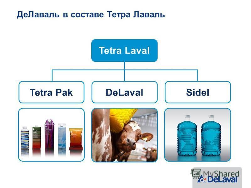 Де Лаваль в составе Тетра Лаваль Tetra PakDeLavalSidel Tetra Laval