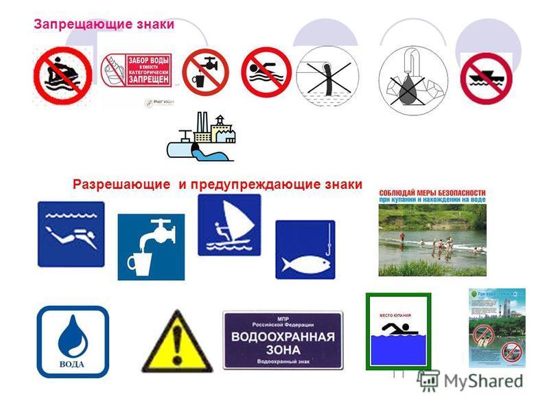 Запрещающие знаки Разрешающие и предупреждающие знаки