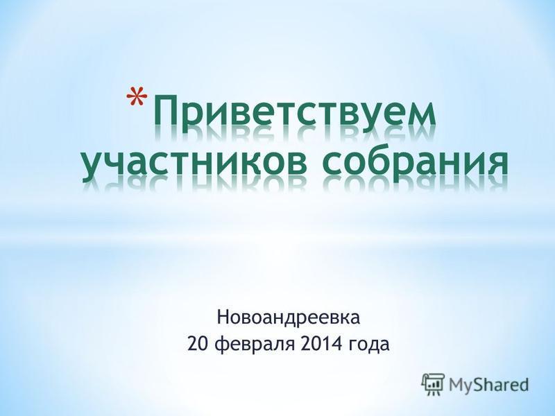 Новоандрдвека 20 февраля 2014 года
