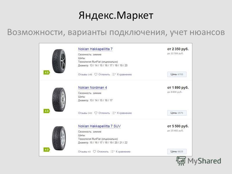 Яндекс.Маркет Возможности, варианты подключения, учет нюансов