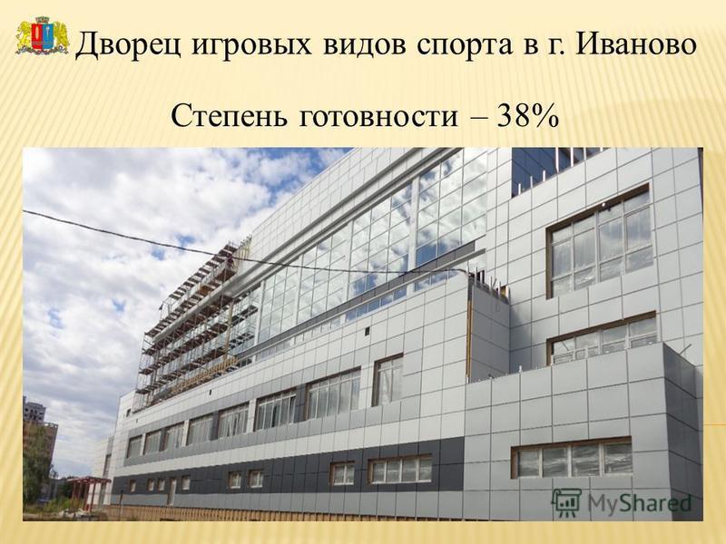 Дворец игровых видов спорта в г. Иваново Степень готовности – 38%